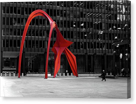 Daley Plaza Canvas Print