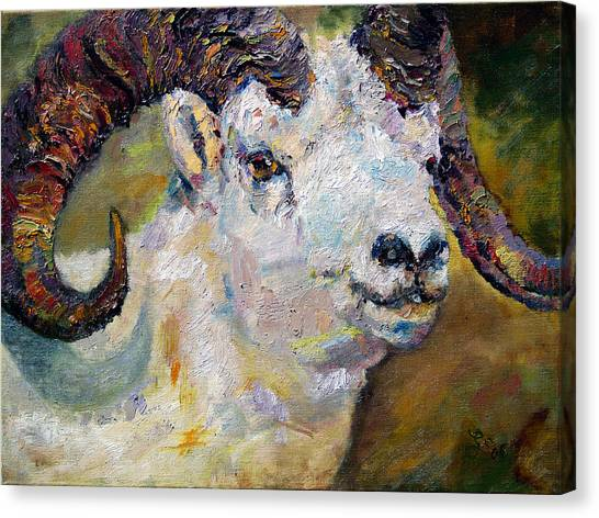 Dall Sheep Ram Oil Painting Canvas Print