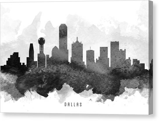 Dallas Skyline Canvas Print - Dallas Cityscape 11 by Aged Pixel
