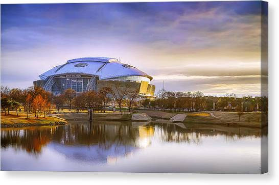 Dallas Cowboys Cheerleaders Canvas Print - Dallas Cowboys Stadium Arlington Texas by Robert Bellomy