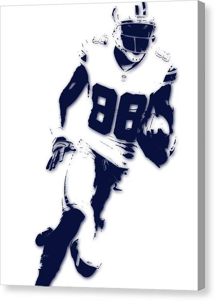 Dallas Cowboys Canvas Print - Dallas Cowboys Dez Bryant by Joe Hamilton