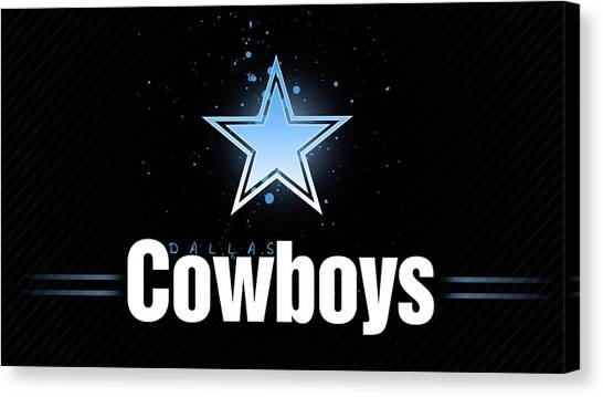 Football Teams Canvas Print - Dallas Cowboys by Maye Loeser