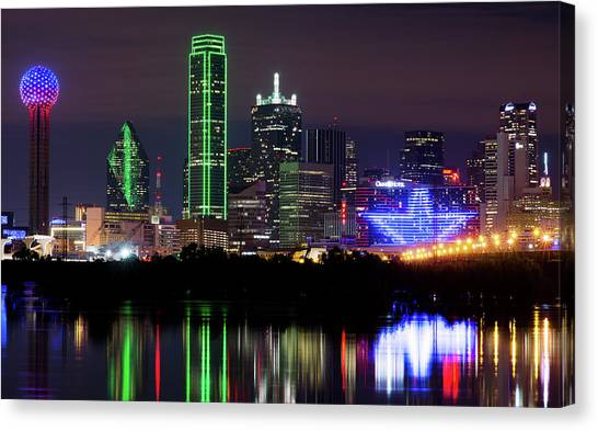 Dallas Cowboys Star Night Canvas Print