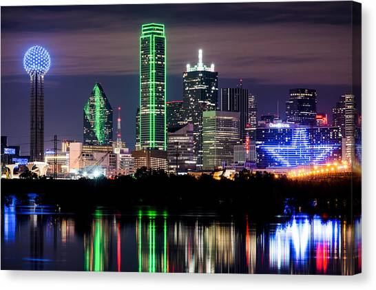 Dallas Cowboys Star Skyline Canvas Print