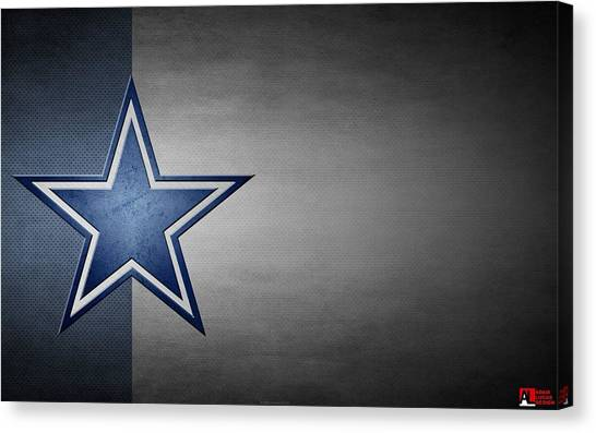 Football Teams Canvas Print - Dallas Cowboys by Super Lovely