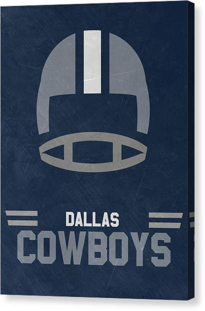 Dallas Cowboys Canvas Print - Dallas Cowboys Vintage Art by Joe Hamilton