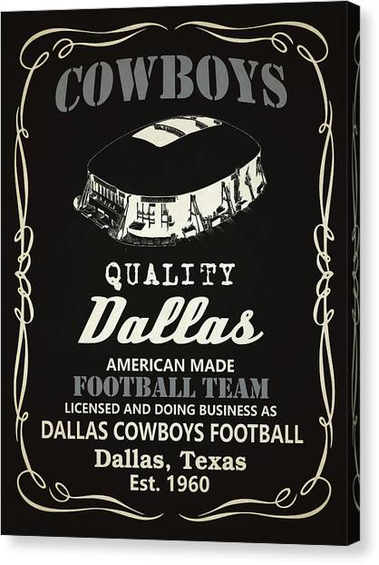 Dallas Cowboys Canvas Print - Dallas Cowboys Whiskey by Joe Hamilton