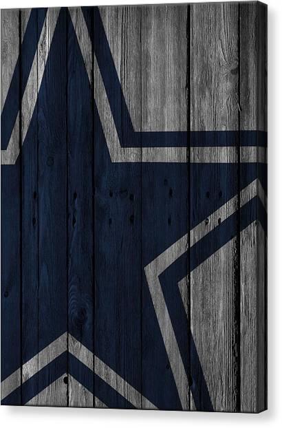 Dallas Cowboys Canvas Print - Dallas Cowboys Wood Fence by Joe Hamilton