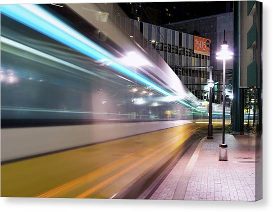 Dallas Dart Motion 012618 Canvas Print