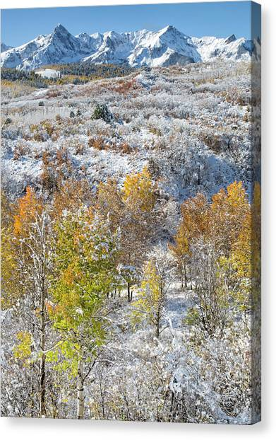 Canvas Print featuring the photograph Dallas Divide In October by Denise Bush