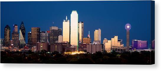 Dallas Golden Pano Canvas Print