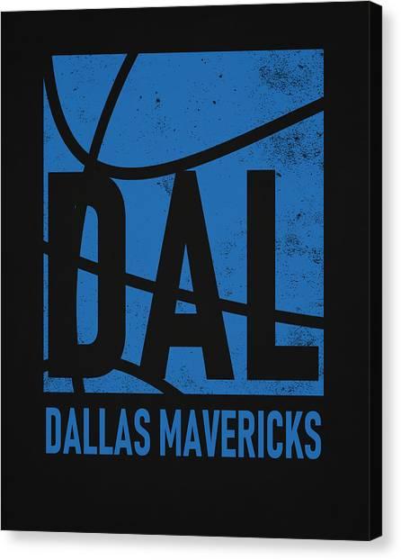Dallas Mavericks Canvas Print - Dallas Mavericks City Poster Art by Joe Hamilton