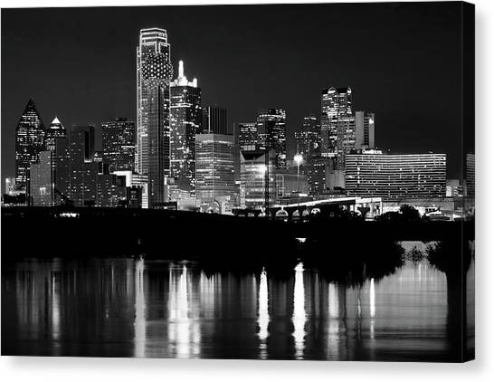 Dallas Nights Bw 6816 Canvas Print