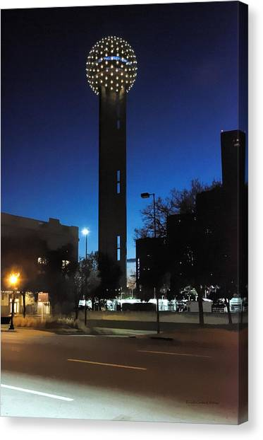 Dallas Reunion Tower Canvas Print