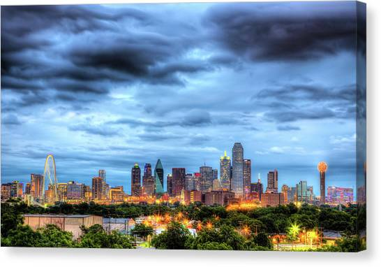 Dallas Skyline Canvas Print - Dallas Skyline by Shawn Everhart