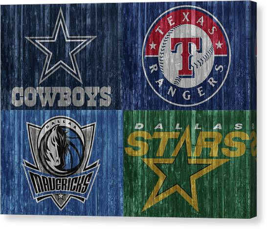 Dallas Stars Canvas Print - Dallas Sports Teams Barn Door by Dan Sproul