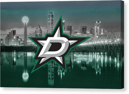 Dallas Stars Canvas Print - Dallas Stars Artwork  by Nicholas Legault