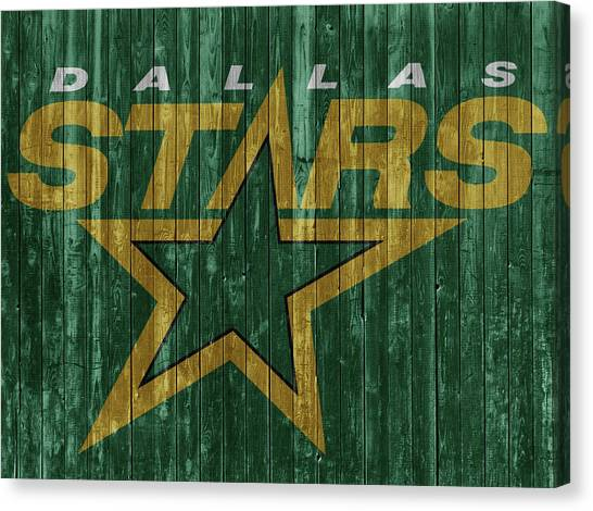 Dallas Stars Canvas Print - Dallas Stars Barn Door by Dan Sproul