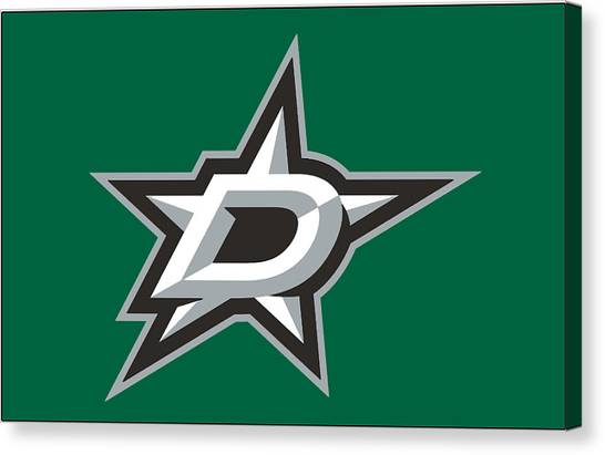 Dallas Stars Canvas Print - Dallas Stars by Bert Mailer