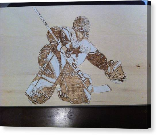 Dallas Stars Canvas Print - Dallas Stars Goalie by John Pitre