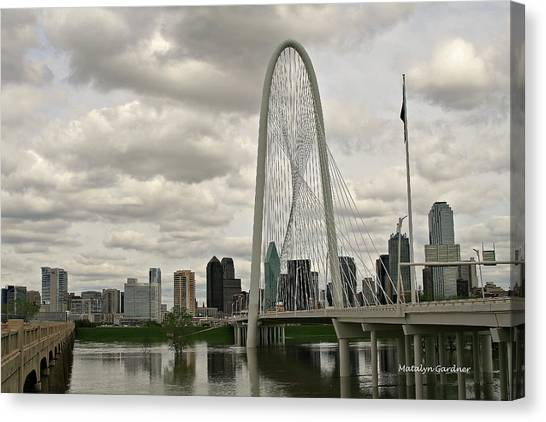 Dallas Suspension Bridge Canvas Print