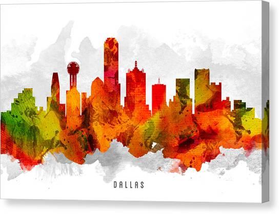 Dallas Skyline Canvas Print - Dallas Texas Cityscape 15 by Aged Pixel