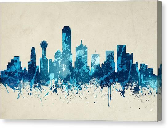 Dallas Skyline Canvas Print - Dallas Texas Skyline 20 by Aged Pixel