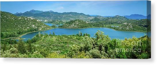 Dalmatian Coast Panorama, Dalmatia, Croatia Canvas Print