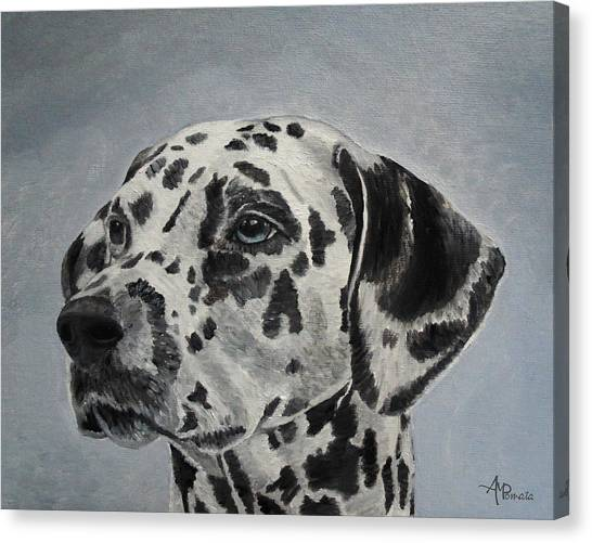 Alpha Kappa Alpha Canvas Print - Dalmatian Portrait by Angeles M Pomata