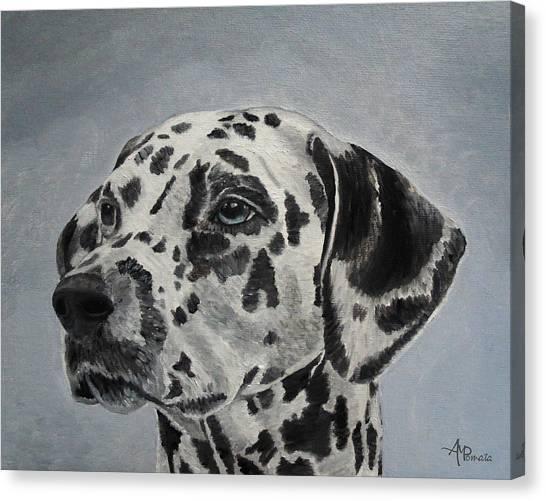 Pi Kappa Alpha Canvas Print - Dalmatian Portrait by Angeles M Pomata
