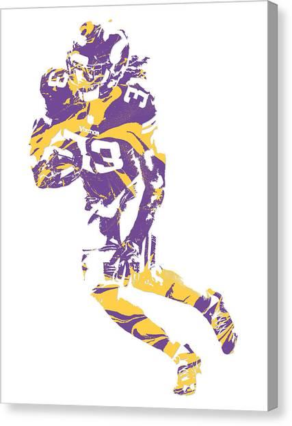 Minnesota Vikings Canvas Print - Dalvin Cook Minnesota Vikings Pixel Art 1 by Joe Hamilton