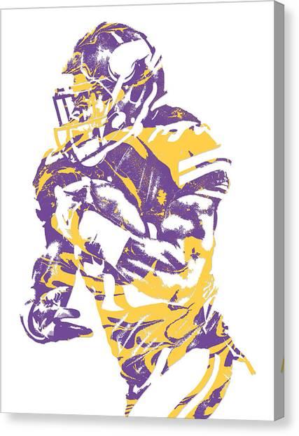 Minnesota Vikings Canvas Print - Dalvin Cook Minnesota Vikings Pixel Art 2 by Joe Hamilton