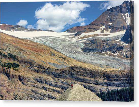 Daly Glacier And Yoho National Park Adventure Canvas Print