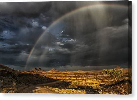 Rainbow Canvas Print - Damaraland by Pavol Stranak