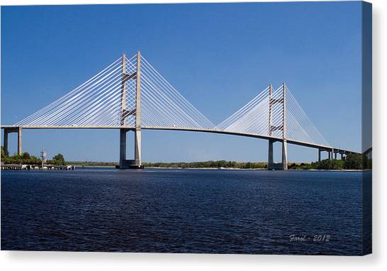 Dames Point Bridge Canvas Print