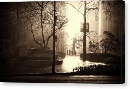 Damp Dawn Canvas Print