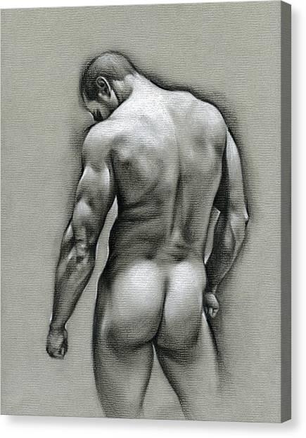 Male Nudes Canvas Print - Dan by Chris Lopez