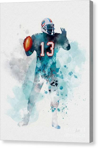Dan Marino Canvas Print - Dan Marino by Rebecca Jenkins
