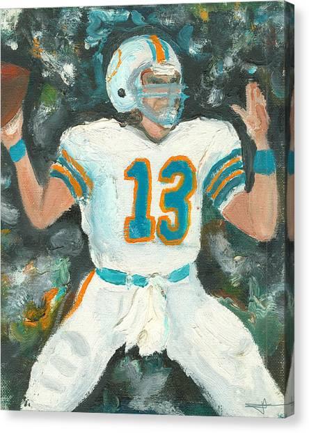 Dan Marino Canvas Print - Dan The Man by Jorge Delara