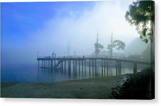 Dana Point Harbor When The Fog Rolls In Canvas Print