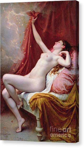Sexuality Canvas Print - Danae by Alexandre-Jacques Chantron