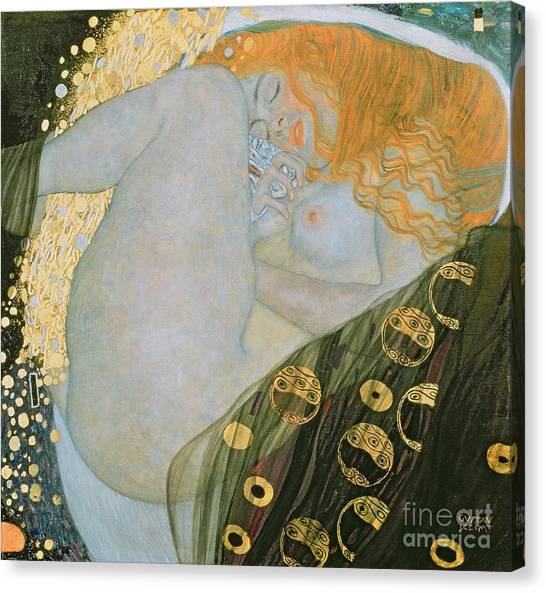 Nipples Canvas Print - Danae by Gustav Klimt