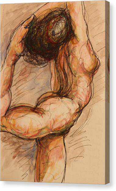 Nude Canvas Print - Dance After Rodin by Dan Earle
