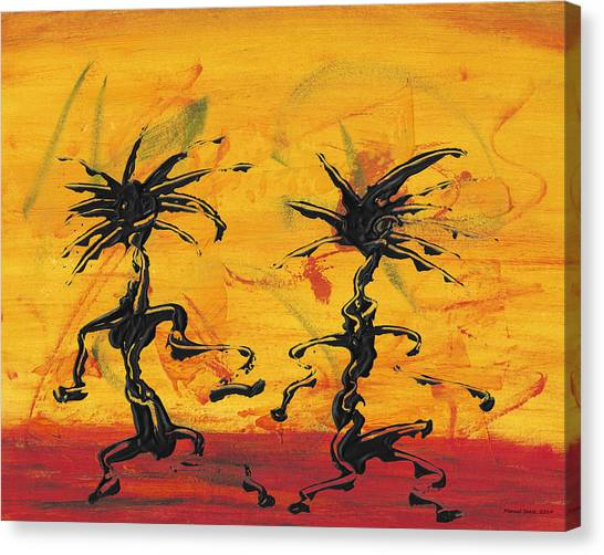 Dance Art Dancing Couple X Canvas Print