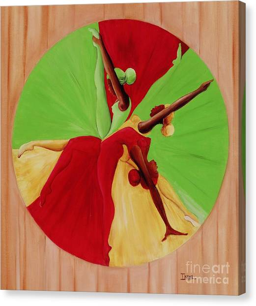 Gym Canvas Print - Dance Circle by Ikahl Beckford