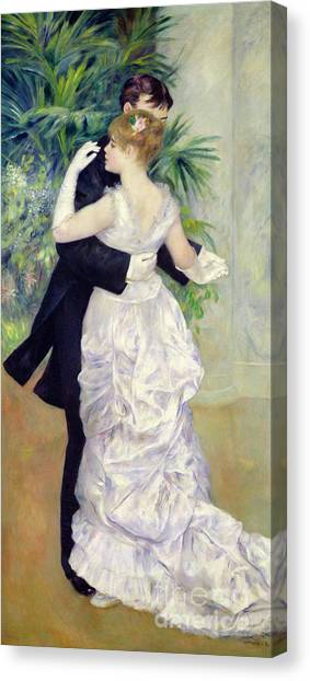 Pierre-auguste Renoir Canvas Print - Dance In The City by Pierre Auguste Renoir