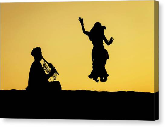 Dance In The Dunes, Jaisalmer Canvas Print