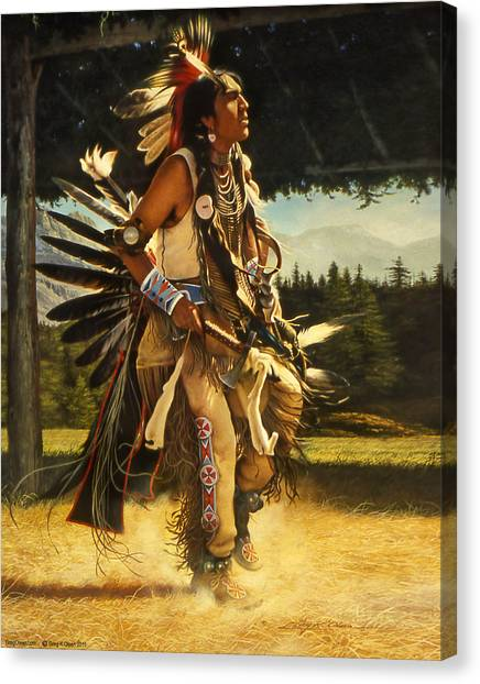 Dance Of His Fathers Canvas Print