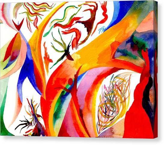 Dance Of Shaman Canvas Print by Peter Shor