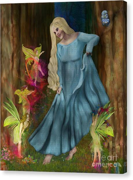 Dance Of The Fairies Canvas Print by Sydne Archambault